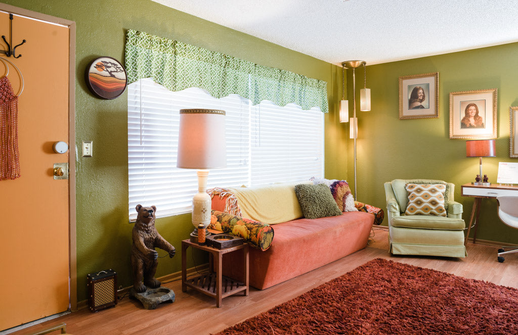 Photo of 70's style interior, las vegas real estate phography