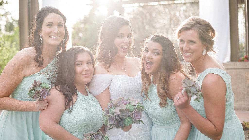 Bridal party at the Springs Preserve in Las Vegas