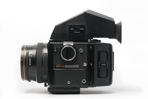 Bronica SQ-A 6x6 Medium Format Film Camera with 80mm 2.8 Lens, Speed Grip, and Metered Prism Viewfinder