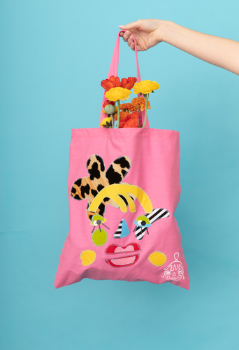 Pink Face The Day Tote