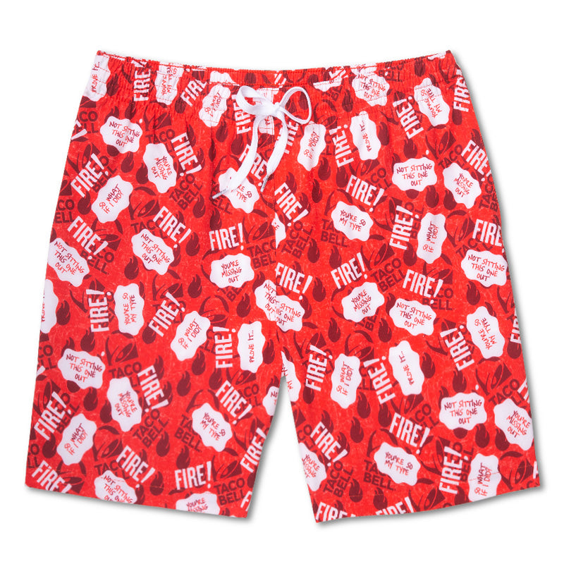 Chubbies x Taco Bell 'The Hot Stuff' 7' Swim Trunks