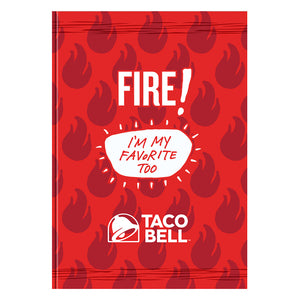 Fire Sauce Packet Notebook