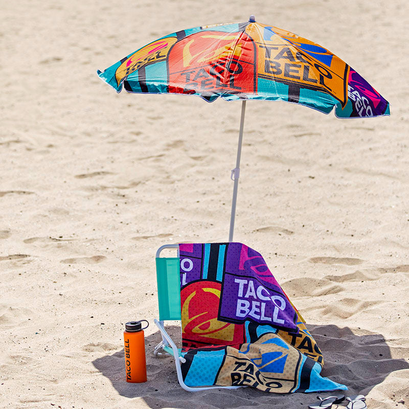 Taco Bell Pop Art Beach Umbrella