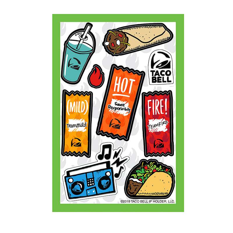 Taco Bell Cravings Sticker Set
