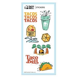 Taco Bell Summer Sticker Set