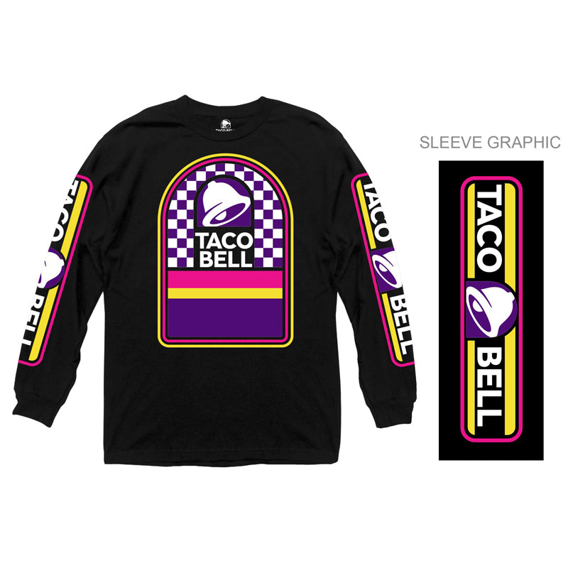 Taco Bell Logo Checkered Long Sleeve Shirt