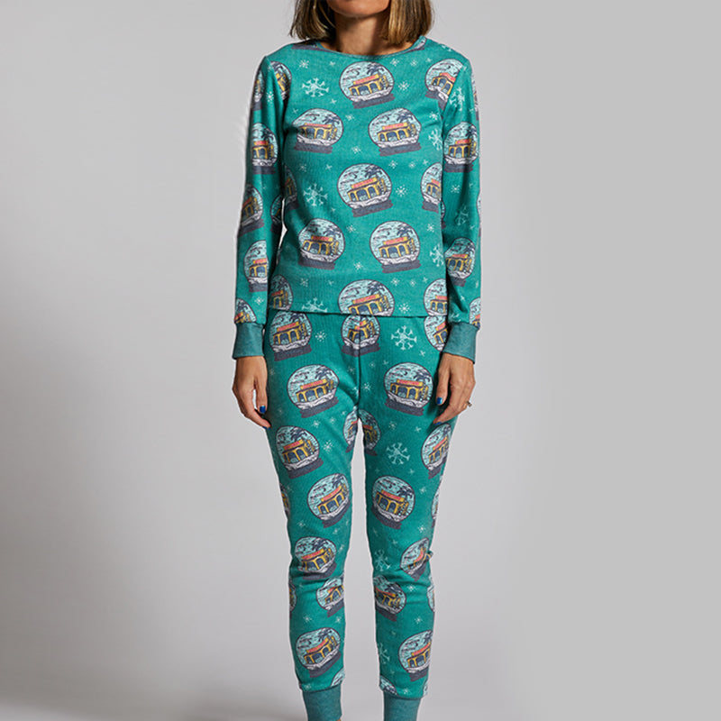 Taco Bell Numero Uno Snow Globe Holiday Pajama Set
