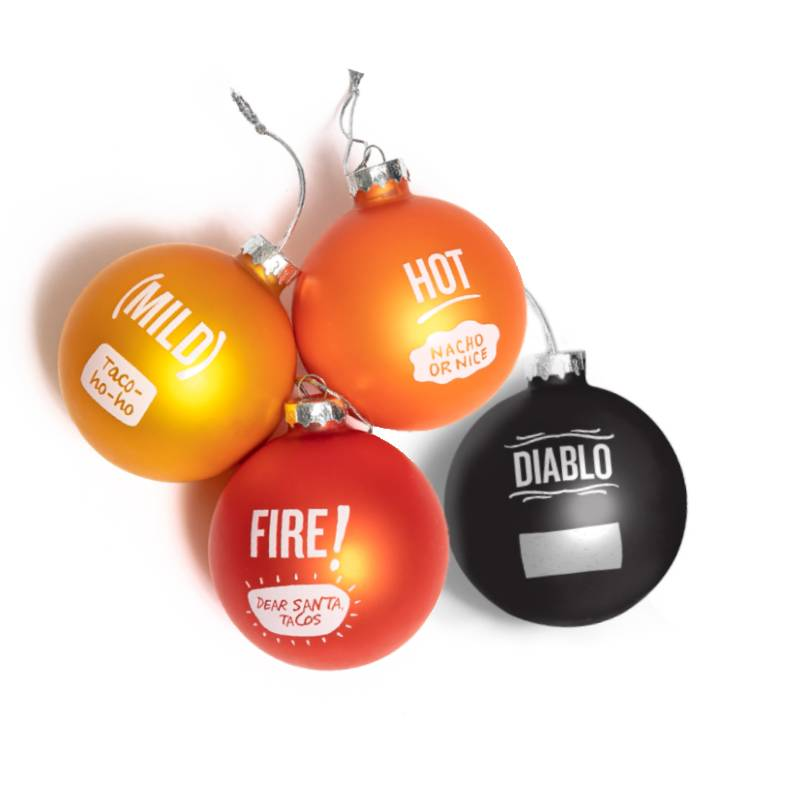 Taco Bell Sauce Packet Holiday Ornament Set