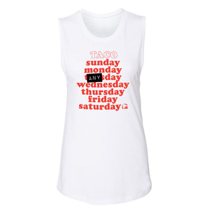 Taco Days of the Week Tank