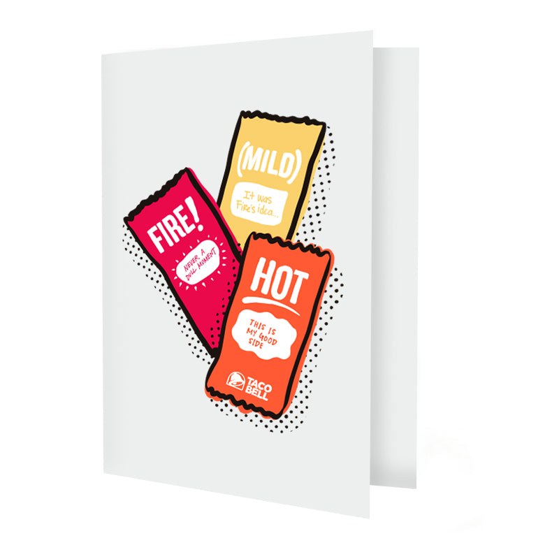 Sauce Packet Greeting Card