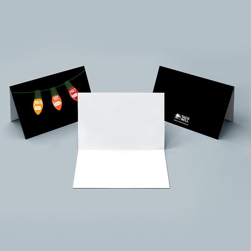 Sauce Packet Holiday Light Greeting Card