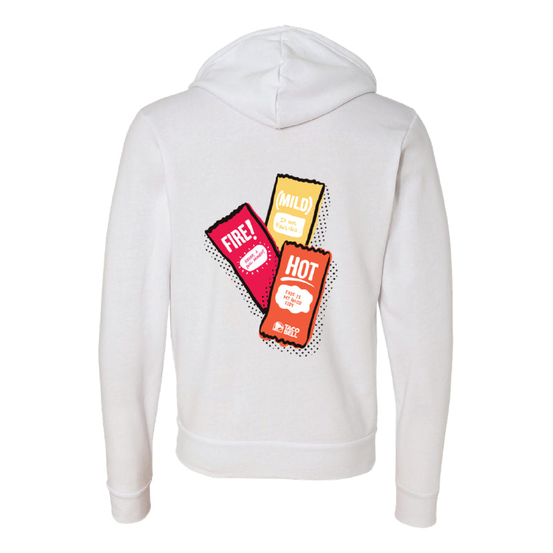 Taco Bell Sauce Packet Trio Zip-Up