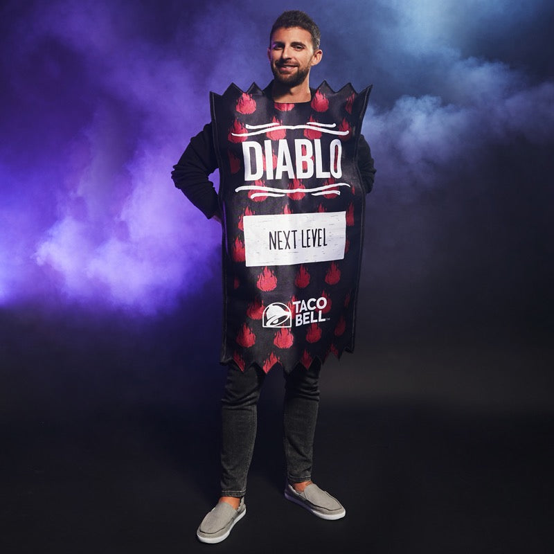 Taco Bell Diablo Sauce Packet Tunic