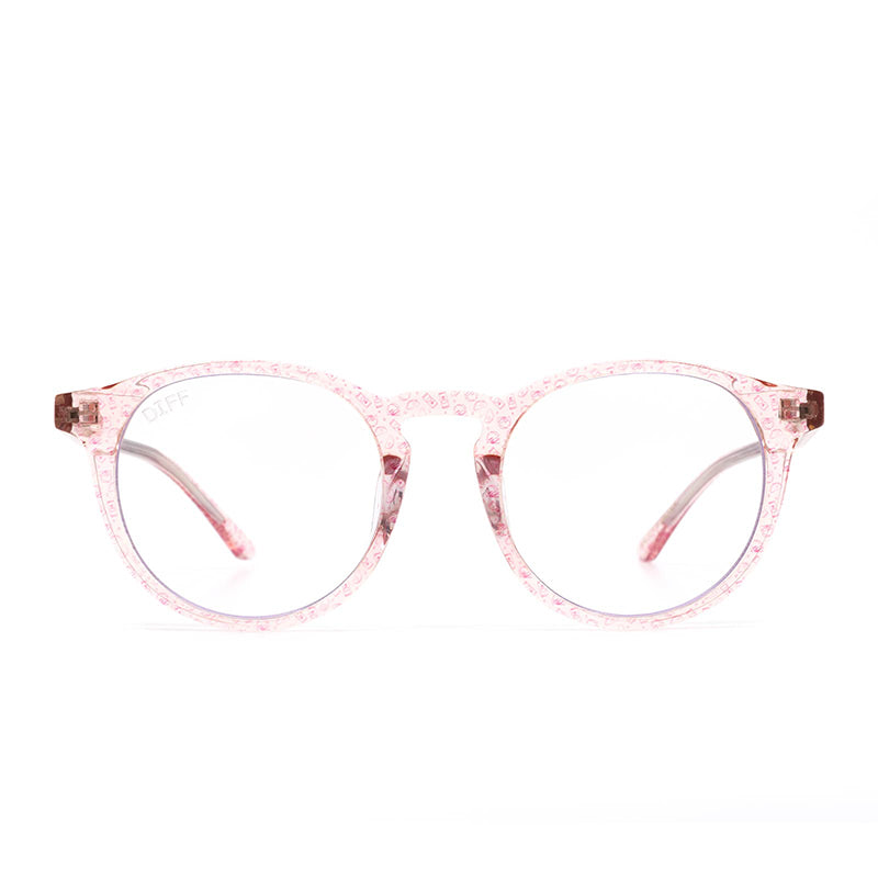 DIFF x Taco Bell 'Saucy Sawyer' Rose Crystal Blue Light Glasses