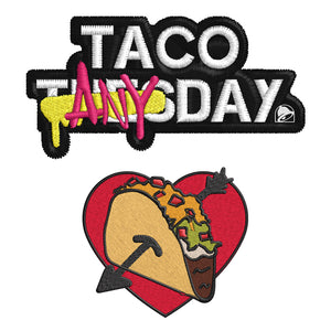 Taco Any Day Patch Set
