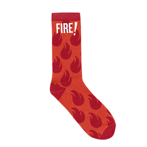 Fire Sauce Packet Knit Sock