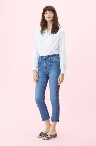 La Vie Clemence Crop Jean in Maxine Wash