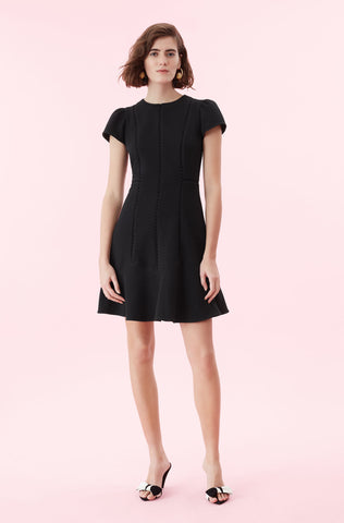 Stretch Texture Dress in Black