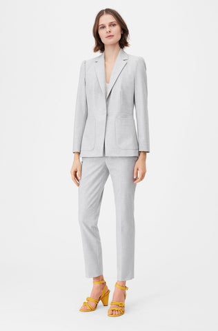 Tailored Clean Suiting Blazer in Light Heather Grey