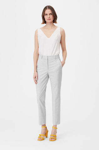 Tailored Clean Suiting Pant in Light Heather Grey
