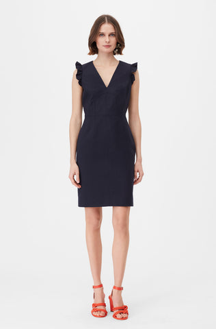 75c650209d4 Tailored Stretch Modern Suiting Dress in Navy