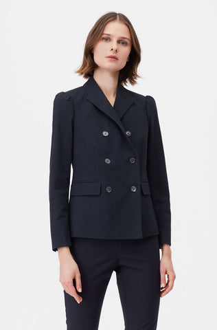 Tailored Stretch Modern Suiting Jacket in Navy
