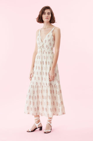 La Vie Jaipur Fleur Dress in Sand Combo