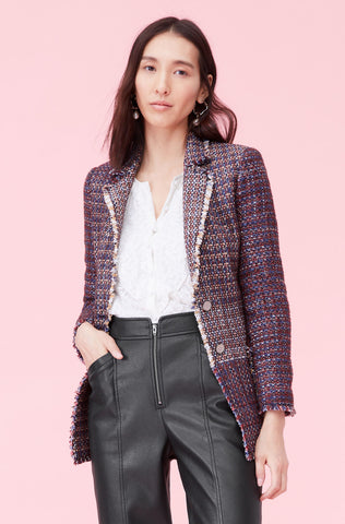 Blanket Tweed Blazer in Multi