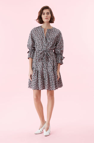 La Vie Fabrice Fleur Dress in Black Combo