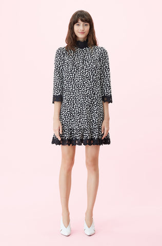 La Vie Le Jaguar Embroidered Dress in Black Combo