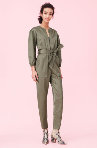 Sateen Jumpsuit in Armory