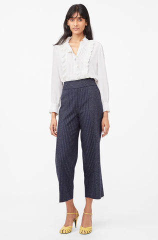 Tailored Mixed Pinstripe Pant in Navy