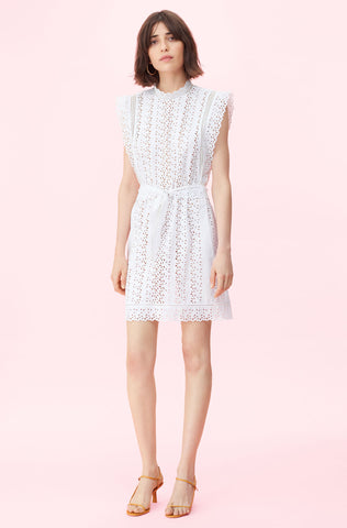 Karina Eyelet Dress in Milk