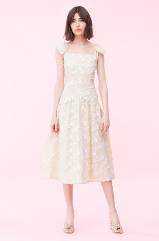 Nicola Embroidered Dress in Cream