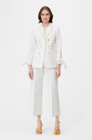 Tailored Stretch Modern Suiting Jacket in Snow