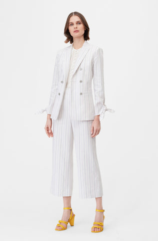 Tailored Stripe Suiting Jacket in Lilac Combo