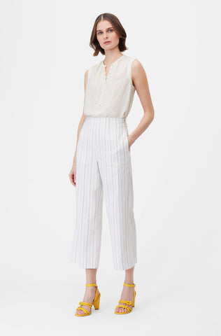 Tailored Stripe Suiting Pant in Lilac Combo
