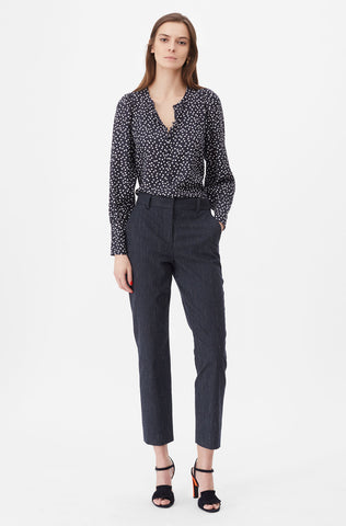 Tailored Pinstripe Suiting Pant in Navy Combo