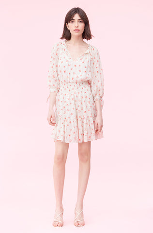 Maui Fleur Dot Clip Dress in Snow Combo