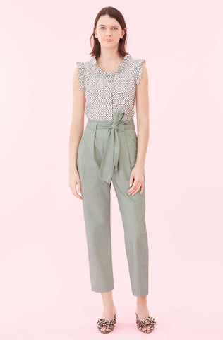 La Vie Corinne Dot Top in Pearl Combo