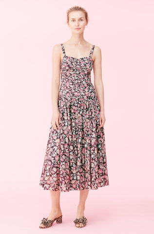La Vie Falaise Floral Dress in Black Combo