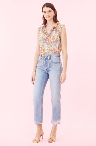 Ava Floral Clip Top in Multi Combo