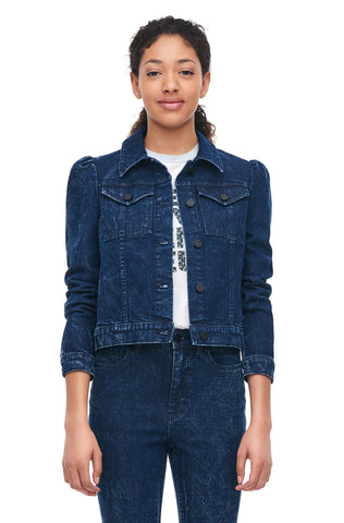 La Vie Stretch Denim Jacket in Acid Ink Wash