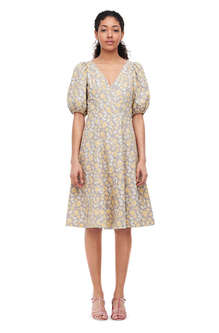 La Vie Margeaux Meadow Poplin Dress in Chamomile