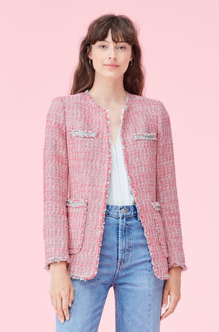 Pink Tweed Jacket in Pink Combo