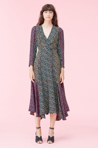 Louisa Floral Jacquard Dress in Print Mix Combo