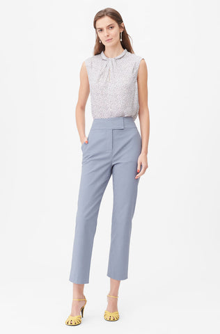 Tailored Stretch Modern Suiting Pant in Blue Stone
