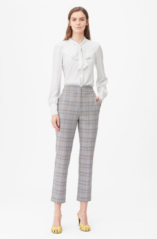 Tailored Plaid Suiting Notch Pant in Robins Egg Combo