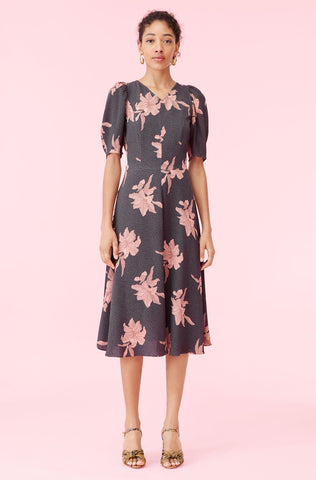 La Vie Tiger Lily Crepe Dress in Dawn Combo