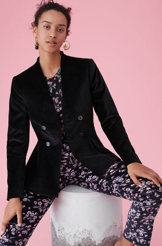 Velveteen Jacket in Black